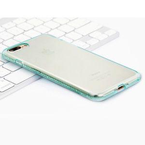 Accessories - iPhone 7+ Transparent Blue Rhinestone Case